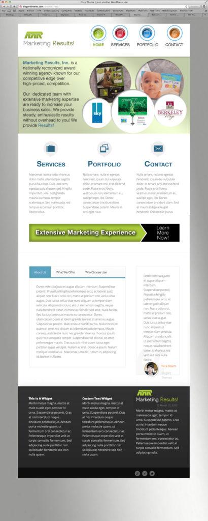 marketing business website design