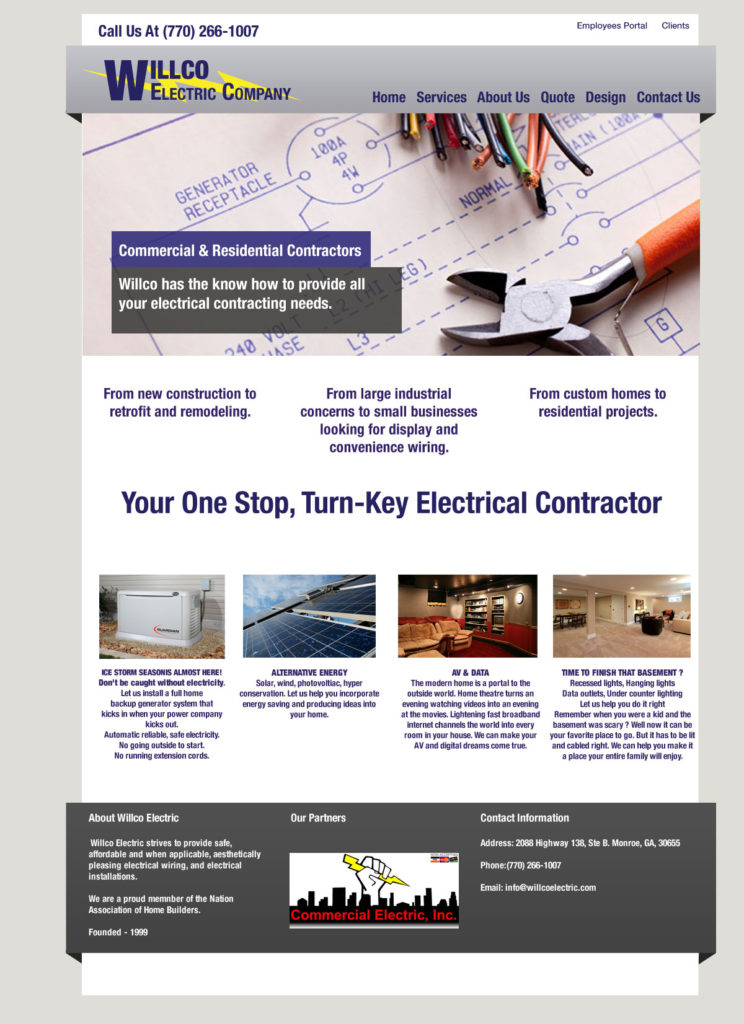 electrical business website